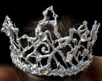Silver black swan crown tiara new year costume headpiece headband masquerade fancy cosplay ballet han gift bachelorette party bridal shower