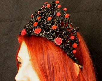 Black swan crown tiara halloween party costume headpiece headband masquerade fancy cosplay ballet han gift bachelorette party bridal shower