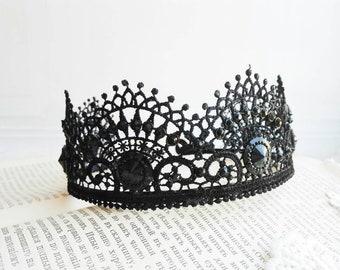 Evil Queen Black Crown Tiara Bandeau