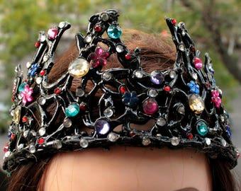 Black swan crown tiara new year costume headpiece headband masquerade fancy cosplay ballet han gift bachelorette party bridal shower