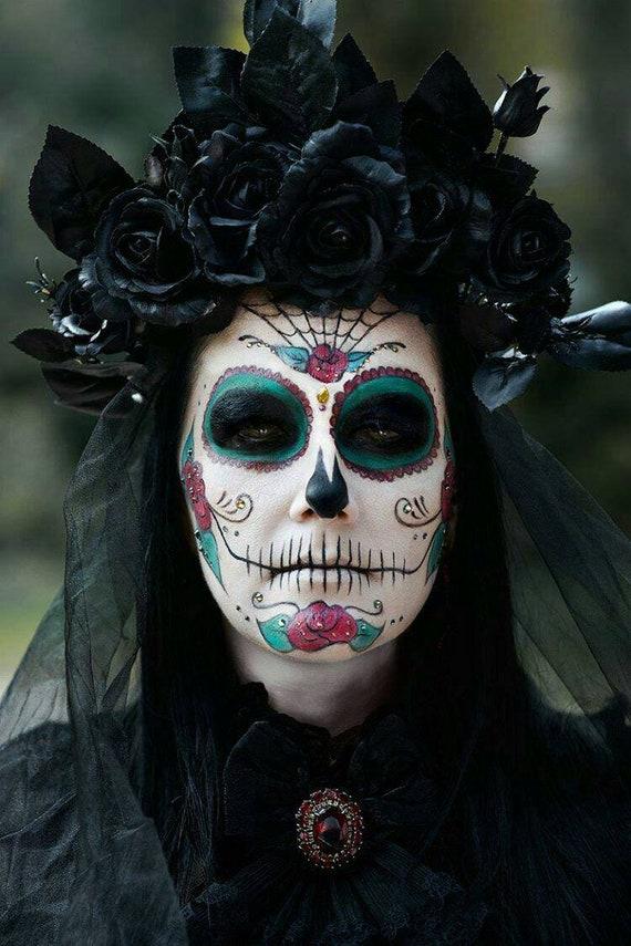 Black Flower Crown Halloween Costume
