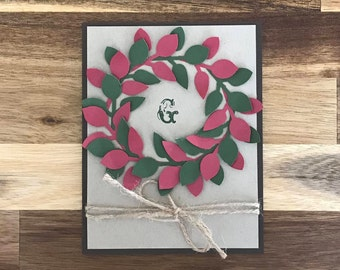 Wreath Holiday Card: Deck the Halls