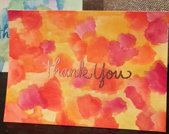 Watercolor Thank You Cards (Buy One)