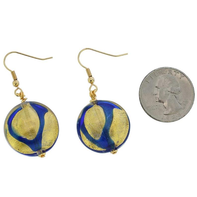 GlassOfVenice Murano Glass Royal Blue Circle Earrings