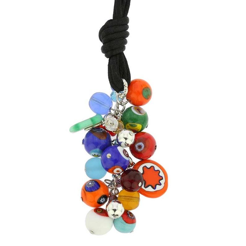 Multicolor GlassOfVenice Murano Glass Sorgente Millefiori Necklace