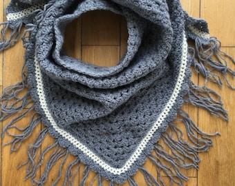 Crochet Triangle Scarf