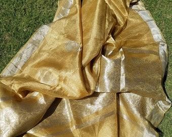be19f815d5 Gold Silver Tissue Saree