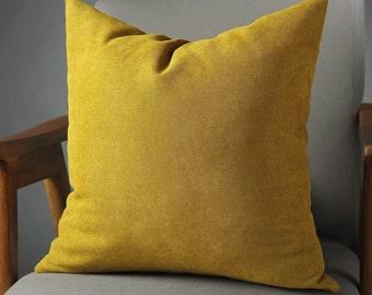 throw pillow-mustard pillow covers, mustard cushion covers, pillow, lumbar pillow- free shipping