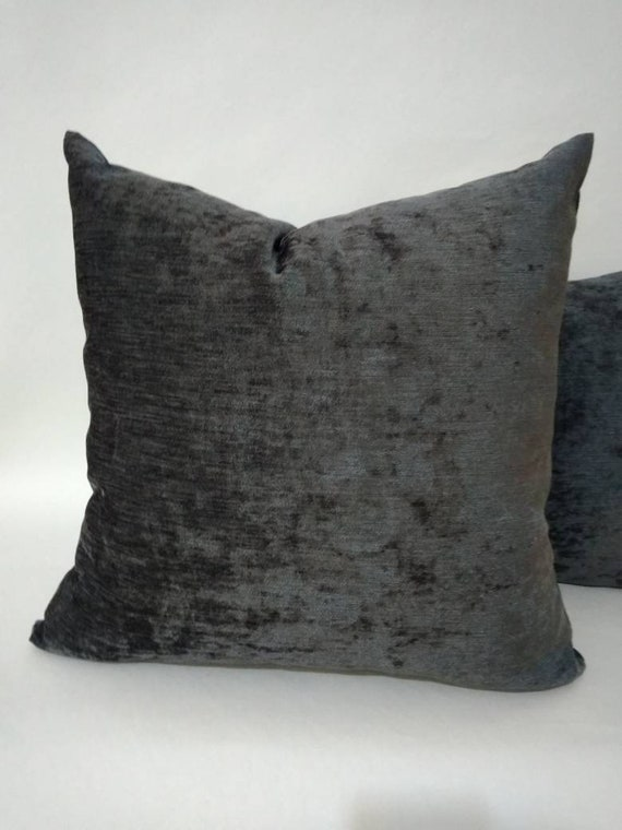 Strange Charcoal Pillow Gray Luxury Pillow Charcoal Chenille Pillow Gray Velvet Pillow Gray Velvet Couch Pillow Mothers Day T Creativecarmelina Interior Chair Design Creativecarmelinacom