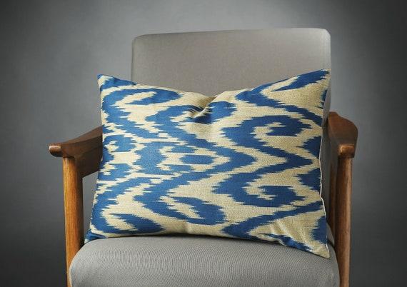 Enjoyable Blue Ikat Pillow Blue Ikat Pillow Cover Blue Ikat Couch Pillow Blue Ikat Cushion Blue Sofa Pillows Blue Bed Pillow Ibusinesslaw Wood Chair Design Ideas Ibusinesslaworg