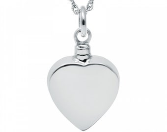 Liefde * Memorial Ash Necklace * Stainless Steel * Jewellery for Ashes * Cremation Jewelry * Cremation Ash Pendant * Urn Necklace * Loss