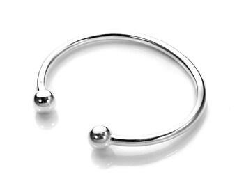 Personalised Baby Torc Bracelet * Sterling Silver * Silver Torc Cuff * Viking Torc Bracelet * Celtic Torc Bracelet * Christening Giftt