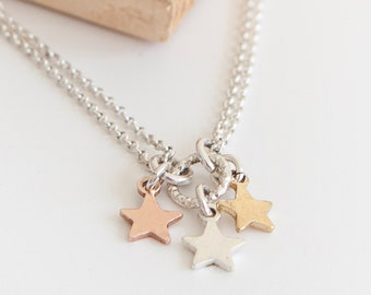 Personalised Star Charm Bracelet * Sterling Silver * Bangle * Shooting Star Jewelry * Make a Wish * Lucky Star * Boho Jewelry