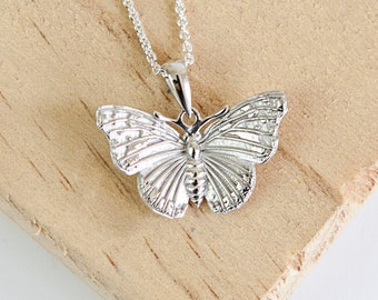 Personalised Butterfly Necklace * Sterling Silver * Butterfly Pendant * Butterfly Jewelry * Butterfly Gift * Red Admiral Butterfly * Insect