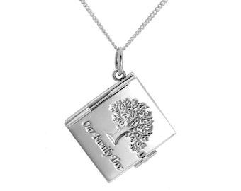 Personalised Family Locket Necklace * Silver Locket * Engraved Locket *  Picture Locket * Mourning Jewelry * Loss of Child Gift * Grief