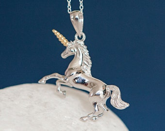 Personalised Sterling Silver Unicorn Pendant Necklace