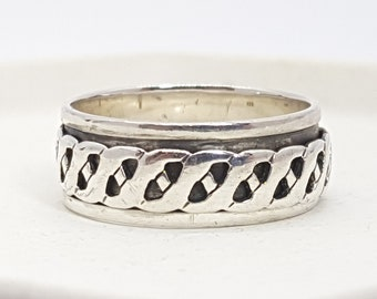 Personalised Celtic Spinner Ring * Sterling Silver * Boho * Anxiety, Meditation, Worry, Spinning Jewelry * Spin, Fidget