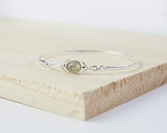 Personalised Celtic Bracelet * Sterling Silver * Celtic Gift * Celtic Bangle * Celtic Love Knot * Celtic Jewelry * Celtic Gemstone Jewellery