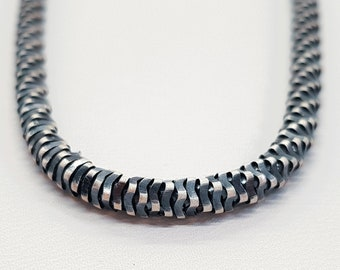 3.5mm Oxidised Fancy Chain * 22 24 inches * Sterling Silver * Best for Men