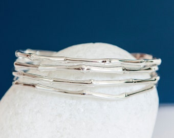 Personalised Sterling Silver Bone Cuff Bangle