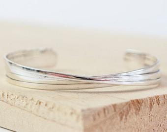 Personalised Torc Bracelet * Sterling Silver * Silver Torc Cuff * Viking Torc Bracelet * Celtic Torc Bracelet * Irish Torc Bangle * Gift