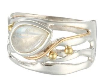 Alyssa * Organic Ring * Sterling Silver * Organic Jewelry * Textured Organic Jewelry * Rustic Ring Gift * Fluid Ring * Rustic Jewelry *
