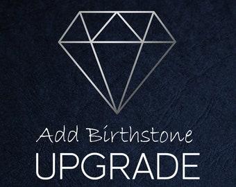 Birthstone Upgrade - Sterling Silver