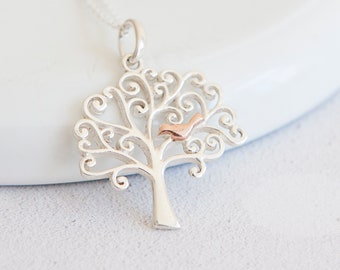 Personalised Tree Of Life Necklace * Sterling Silver * Family Tree * Tree-of-Life * Tree Necklace * Tree Jewelry * Tree Pendant * Rose Gold