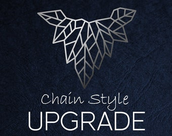 Chain Style Upgrade from 18in Sterling Silver Trace to 18in Sterling Silver Snake, Curb, Rope or Box