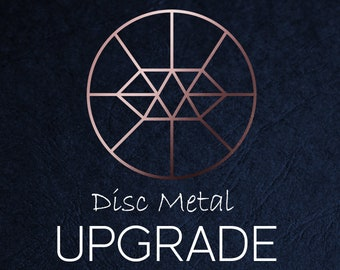 Disc Metal Upgrade - 18ct Rose Gold Vermeil