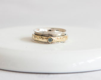 Arwen  * Meditation Ring * Sterling Silver * Anxiety Spinner* Spinning Worry Jewelry * Boho Spin Ring * Custom Prayer Ring * Calming Motion