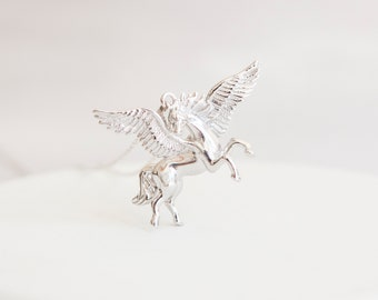 Personalised Pegasus Necklace * Sterling Silver * Pegasus Pendant * Pegasus Jewelry * Pegasus Gift * Fantasy * Mythology * Silver Pegasus *