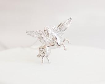 Pegasus * Pegasus Necklace * Sterling Silver * Pegasus Pendant * Pegasus Jewelry * Pegasus Gift * Fantasy * Mythology * Silver Pegasus *