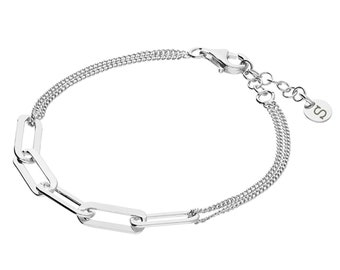 Personalised Sterling Silver Wide Link Chain Bracelet
