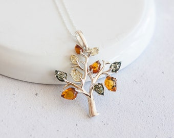 Personalised Baltic Amber Necklace * Sterling Silver * Amber Jewellery Gift * Genuine Amber * Amber Pendant * Honey Amber * Amber for Adults