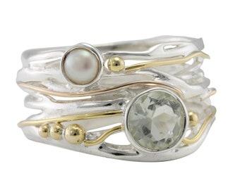 Kyra * Organic Ring * Sterling Silver * Organic Jewelry * Textured Organic Jewelry * Rustic Ring Gift * Fluid Ring * Rustic Jewelry *
