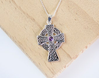 Eric * Celtic Necklace * Sterling Silver * Celtic Gift * Celtic Pendant * Celtic Love Knot * Celtic Jewelry * Celtic Gemstone Jewellery