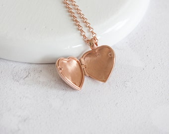 Blodwyn * Heart Locket Necklace * Sterling Silver * Remembrance Jewelry * Picture Locket Gift * Working Locket * Hair Locket Pendant *