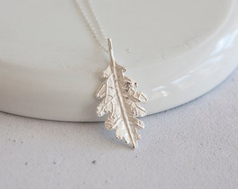 Personalised Leaf Necklace * Sterling Silver * Leaf Pendant * Leaf Jewelry * Botanical Gift * Forest * Summer Woodland * Flower Girl Autumn