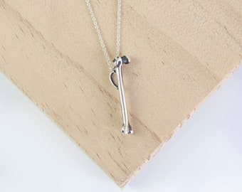 Alonso * Femur Bone Necklace * Sterling Silver * Anatomical Pendant * Human Anatomy * Skeleton * Medical Student * Doctor Gift * Curiosity