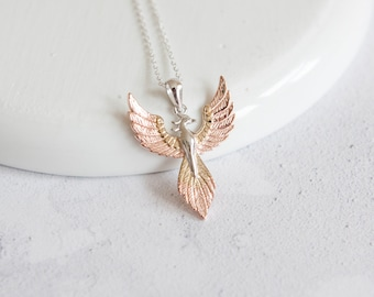 Phoenix Necklace * Sterling Silver * Phoenix Pendant * Phoenix Jewelry * Fantasy * Mythology * Rebirth * Rise from Ashes * New Start
