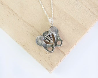 Asher * Pelvic Bone Necklace * Sterling Silver * Human Anatomy * Skeleton * Female Pelvis * Anatomical Jewelry * Midwife Gift *