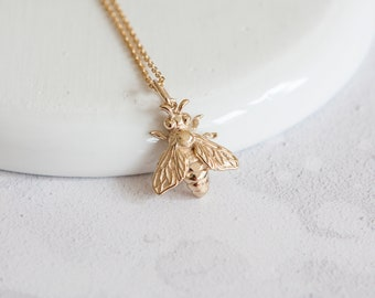 Personalised Bee Necklace * Sterling Silver * Bumble Bee Gift * Worker Bee Jewelry * Honey Bee * Manchester Bee * Bee Pendant * Queen Bee