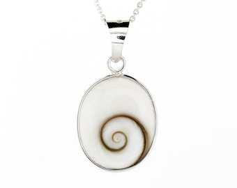 Inayah * Shivas Eye Necklace * Sterling Silver * Ocean Jewelry * Summer Pendant * Beach Holiday * Under the Sea * Pacific Cats Eye Gift *