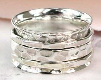 Silver Spinner Ring * Sterling Silver * Boho Ring * Anxiety and Meditation Ring * Worry Ring * Spinning Jewelry * Spin Ring * Fidget Ring