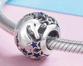 Mythical Dragon Charm Bead * Sterling Silver * 4.5mm Inner Diameter * Fits most European Charm Bracelets