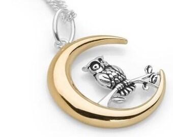 Personalised Owl Necklace * Sterling Silver * Bird Pendant * Bird Jewelry * Bird Gift * Bird Necklace * Woodland Bird