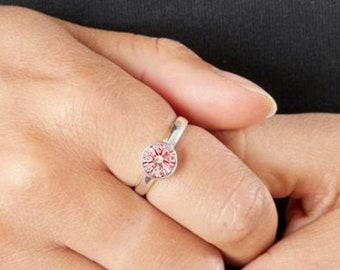 Personalised Sterling Silver Alexandrite Cubic Zirconia Gemstone Pendant June Birthstone Ring