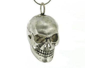 Tormund * Human Skull Necklace * Sterling Silver *  Memento Mori, Anatomical Pendant * Human Anatomy Skeleton * Medical Doctor * Curiosity