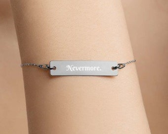 Personalised Nevermore Bar Bracelet * Sterling Silver, Rhodium, 24ct Yellow Gold, 18ct Rose Gold